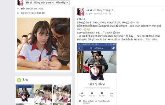 nu sinh bi cua chan len tieng ve cac facebook gia mao - 1
