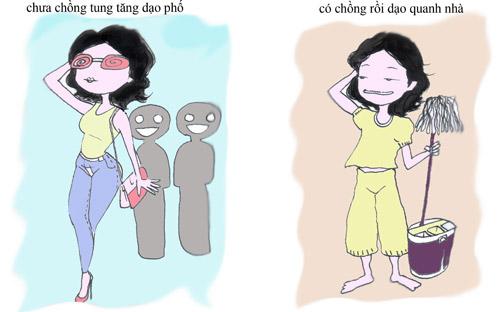 su khac nhau giua gai co chong va chua chong - 1