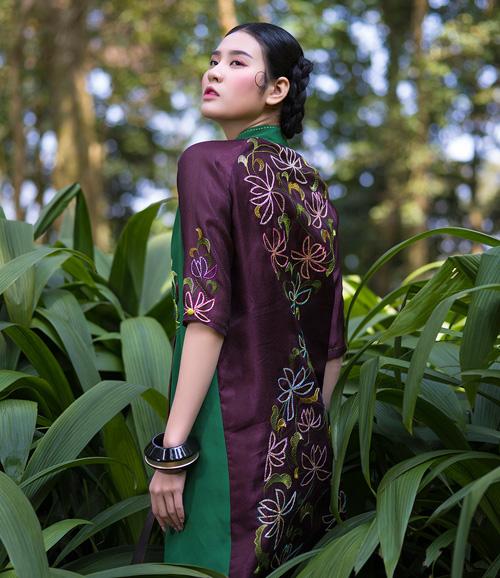 Hồn Việt đậm đà trong những tà áo dài gấm-8