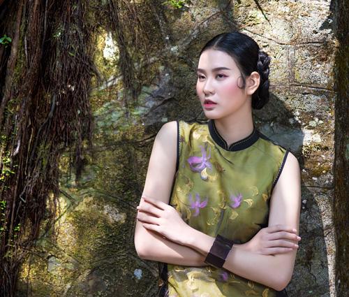 Hồn Việt đậm đà trong những tà áo dài gấm-9