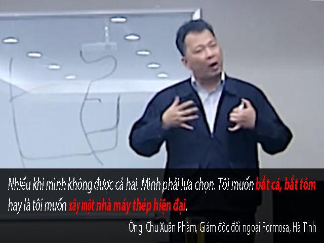 """noi """"chon nha may hay tom ca"""", dai dien formosa tran tinh - 1"""
