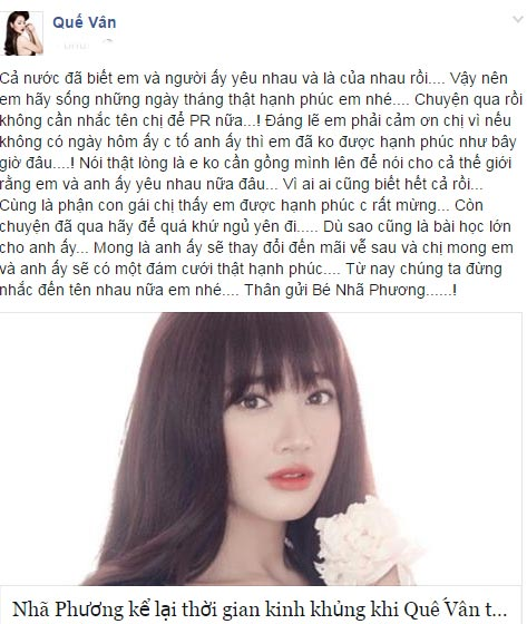 "que van viet tam thu gui nha phuong: ""dang le em phai cam on chi"" - 2"