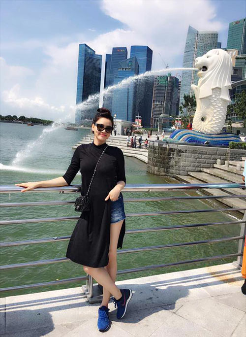 vo chong trang nhung tinh cam ben con gai o singapore - 1