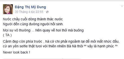 """midu """"khong nhin lai"""" du phan thanh con nang long - 1"""