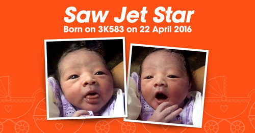 be trai nang 3,4kg chao doi tren may bay jetstar - 1