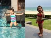 Làm mẹ - Ảnh đi bơi ngộ nghĩnh của nhóc tỳ nhà sao Việt