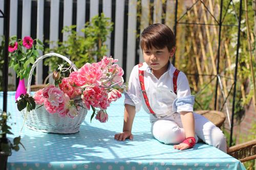 Hai thiên thần lai gốc Việt bên cánh đồng hoa Tulip đẹp như tranh-13
