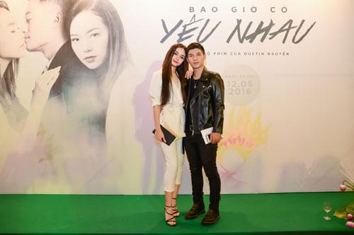 Mlee tình tứ Cường Seven đi xem phim của Dustin Nguyễn-1