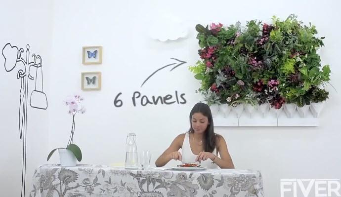 Vườn rau treo trên tường thích hợp cho nhà phố-1