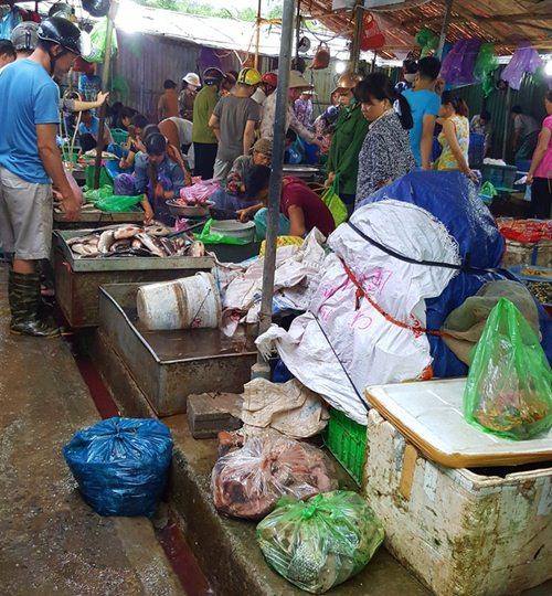 Tấp nập khách 'săn' cá ươn giá rẻ tại chợ thực phẩm Hà Nội-3