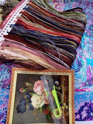 Những mẫu tranh hoa thêu chữ thập đẹp cho mùa hè-6