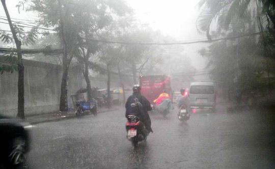 Mưa mù trời kèm lốc xoáy ở Sài Gòn-1