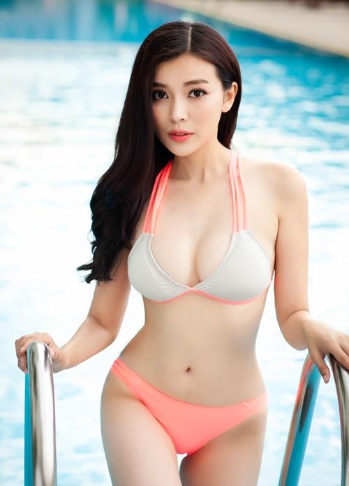 """""""Người đẹp xứ Dừa"""" khoe vẻ sexy tại hồ bơi với bikini-10"""