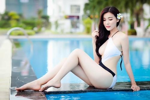 """""""Người đẹp xứ Dừa"""" khoe vẻ sexy tại hồ bơi với bikini-7"""