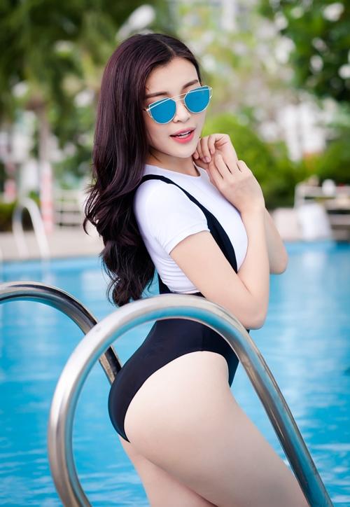 """""""Người đẹp xứ Dừa"""" khoe vẻ sexy tại hồ bơi với bikini-8"""