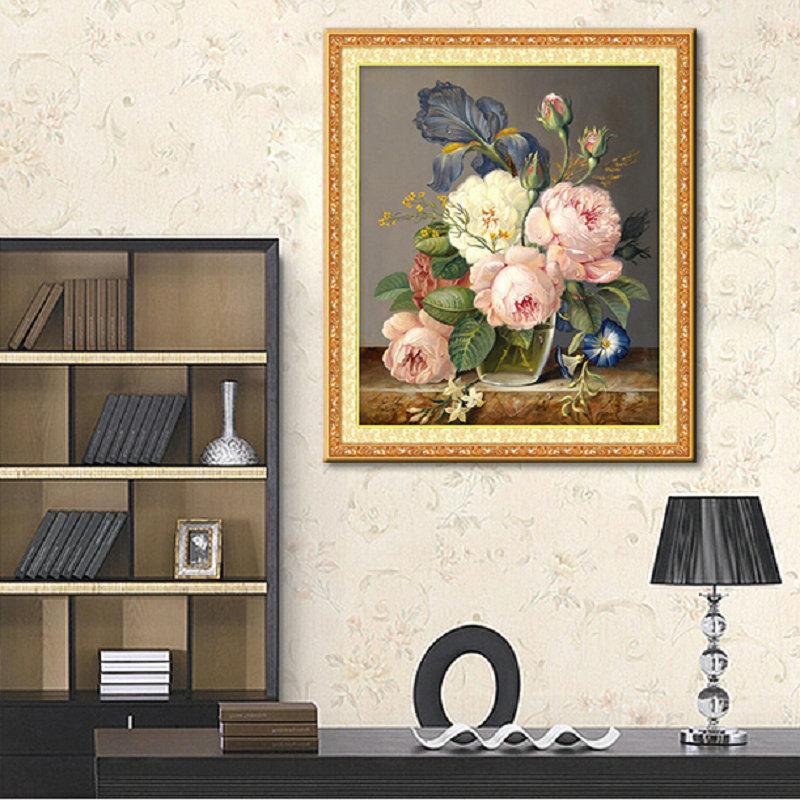 Những mẫu tranh hoa thêu chữ thập đẹp cho mùa hè-4