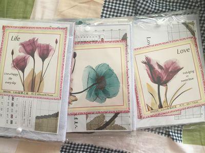 Những mẫu tranh hoa thêu chữ thập đẹp cho mùa hè-2