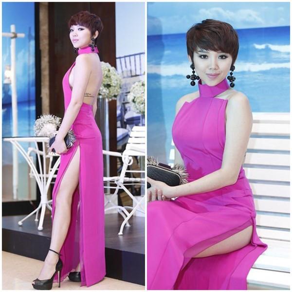 Muôn kiểu váy xẻ cao gây nhức mắt của mỹ nhân Việt-12