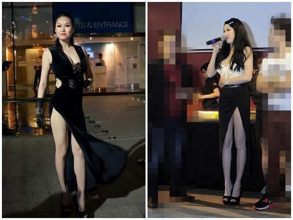 Muôn kiểu váy xẻ cao gây nhức mắt của mỹ nhân Việt-20