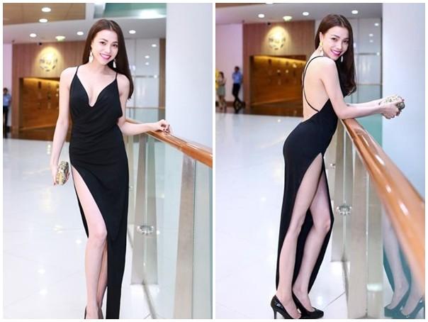 Muôn kiểu váy xẻ cao gây nhức mắt của mỹ nhân Việt-9