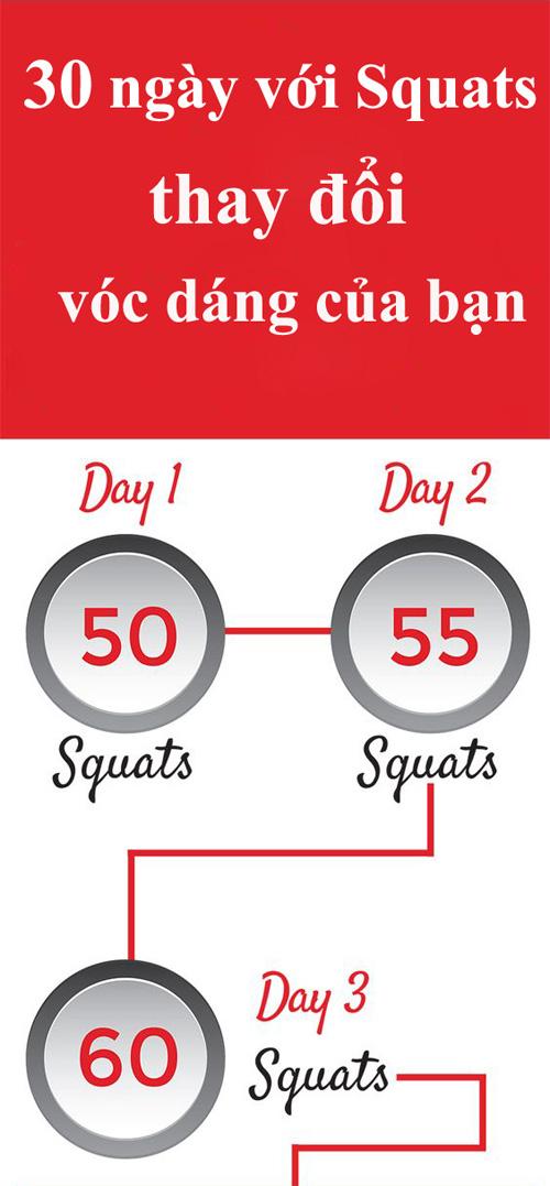 lich trinh 30 ngay thay doi voc dang voi squats - 2