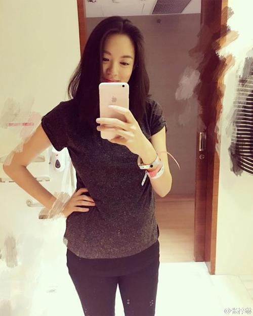 Hoa hậu Trương Tử Lâm khoe ảnh vắt sữa nuôi con-3