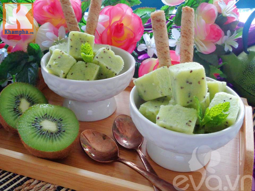 kem kiwi mat lanh, thom ngon lai de lam - 6