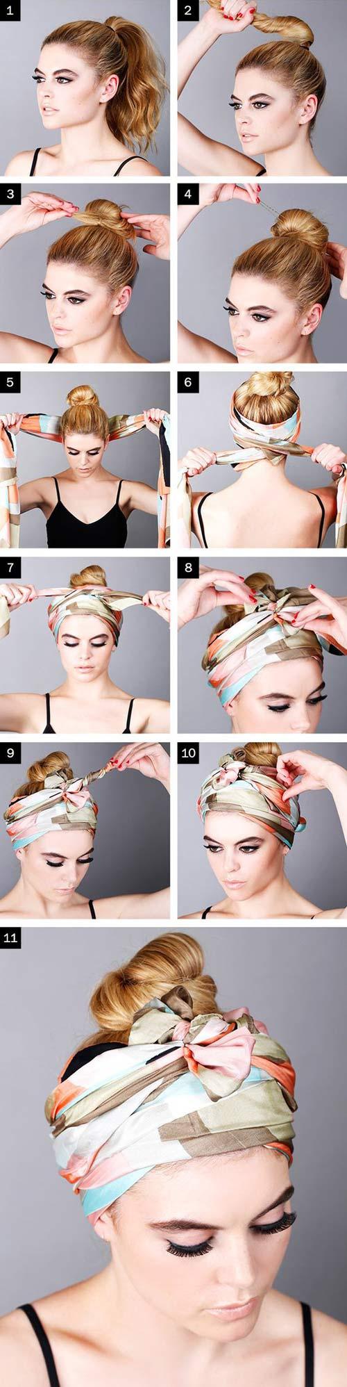 Biến tấu cho tóc đẹp quên sầu chỉ bằng 1 chiếc khăn-1