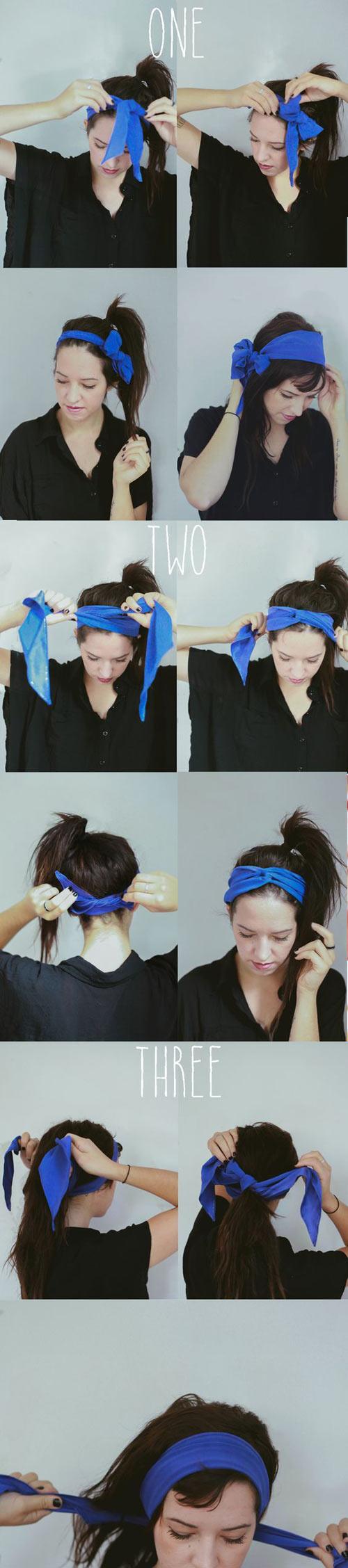 Biến tấu cho tóc đẹp quên sầu chỉ bằng 1 chiếc khăn-2
