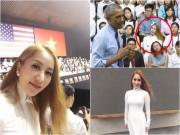 Làng sao - Khánh Thi phát khóc vì sung sướng khi được ông Obama bắt tay