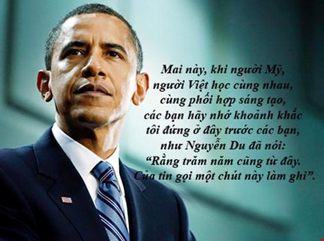 """dau an obama qua nhung cau noi """"de doi"""" tai viet nam - 1"""
