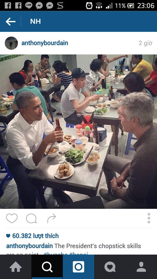 """con sot """"bun cha obama"""" lan sang singapore, ban dat gap doi ban goc - 1"""
