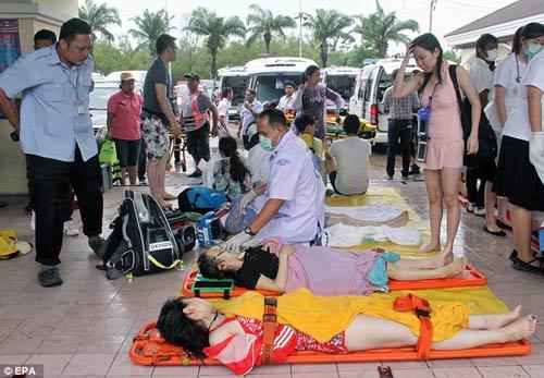 thai lan: hai tau cao toc va cham, 28 nguoi thuong vong - 1