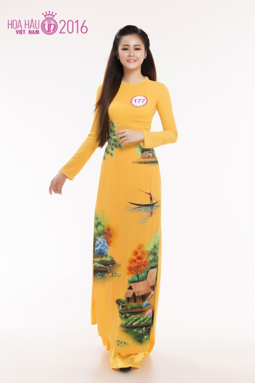 hhvn: top 30 thi sinh phia nam rang ro voi ao dai - 12