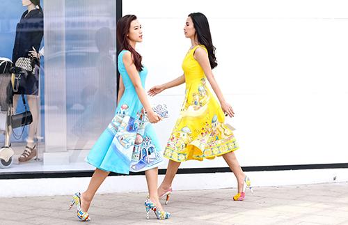 Ái Phương, Hoàng Oanh dạo phố với thời trang vẽ tay-6