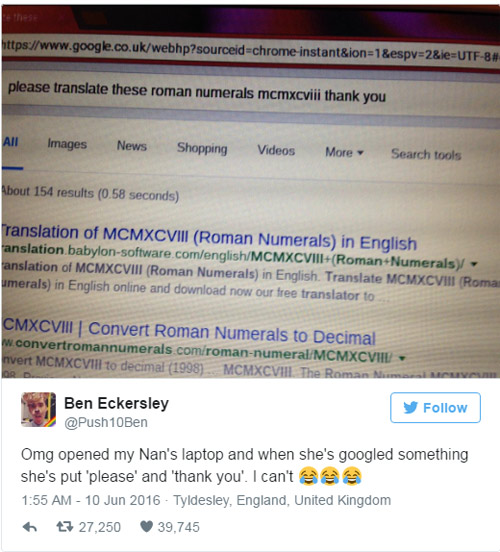 Bà cụ 'xin vui lòng' và 'cám ơn' với Google khiến dân mạng thích thú-2
