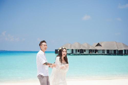 """Ảnh cưới lãng mạn tại Maldives của """"hot girl dao kéo""""-9"""