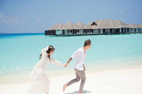 """Ảnh cưới lãng mạn tại Maldives của """"hot girl dao kéo""""-10"""