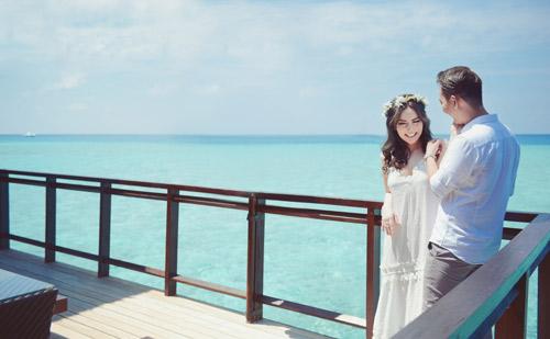 """anh cuoi lang man tai maldives cua """"hot girl dao keo"""" - 8"""