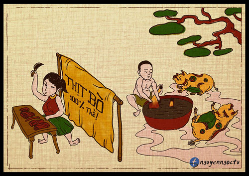 gap chang trai ve 'nhai' tranh dong ho ve thuc pham ban 'hut nghin like' - 5