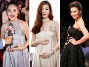 """Bà bầu - 4 mỹ nhân Việt """"bụng bầu vượt mặt"""" vẫn xinh như hoa"""