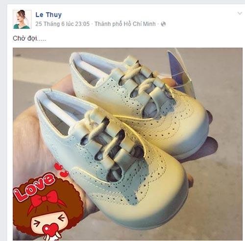 le thuy khoe eo thon gon bac bo tin don mang thai - 3