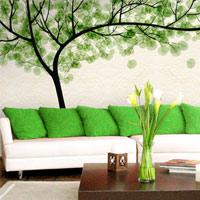 Vẽ hoa cho tường