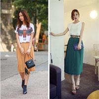 10 phong cách cho váy xếp ly