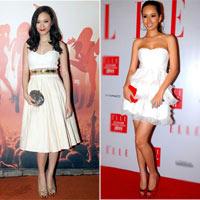 Tạo điểm nhấn cho váy trắng như sao Việt