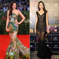Sao Hoa ngữ có biết cách mặc váy mỏng?