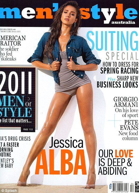 Jessica Alba sexy trên bìa tạp chí - 1