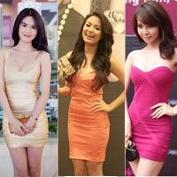 Váy ôm sát - 'chiêu' khoe đường cong của sao Việt