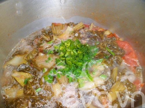 Bao tử cá basa nấu dưa chua - 7