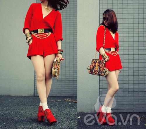 Eva Icon: Cô nàng Nhật Bản 'cuồng' gam đỏ - 1